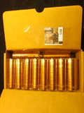 1188. (35) 1963 P Brilliant Uncirculated Rolls of Lincoln Cents stored in plastic tubes. (