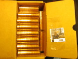 1189. (35) 1963 P Brilliant Uncirculated Rolls of Lincoln Cents stored in plastic tubes. (