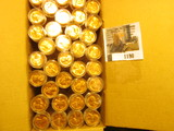 1190. (35) 1963 P Brilliant Uncirculated Rolls of Lincoln Cents stored in plastic tubes. (