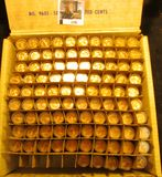 1191. (95) 1963 P Brilliant Uncirculated Rolls of Lincoln Cents stored in plastic tubes. (
