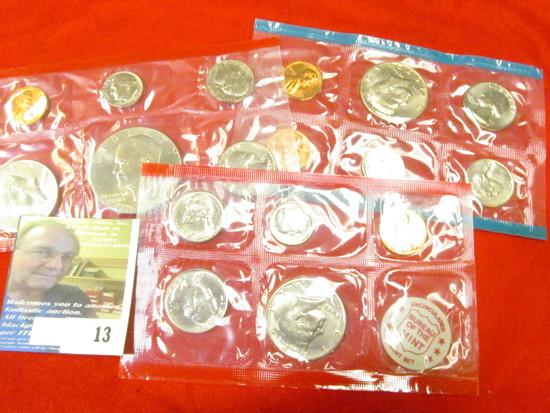 1972 P & D U.S. Mint Set in original cellophane, no envelope; & 1976 Denver U.S. Mint Set in origina