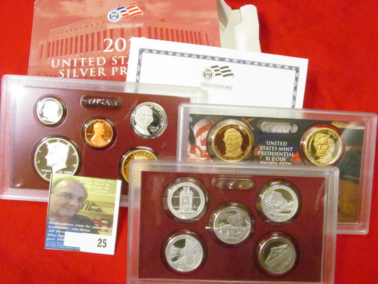 2010 S U.S. Silver Proof Set. 14 pc. In original government issued box and case.