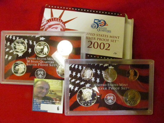 2002 S U.S. Silver Proof Set. 10 pc. In original government issued box and case.