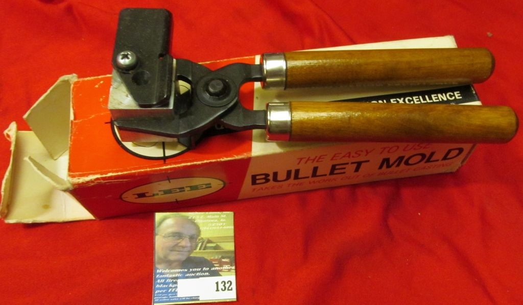 Lot: Lee Bullet Mold with handle for a Minie Bullet Diameter