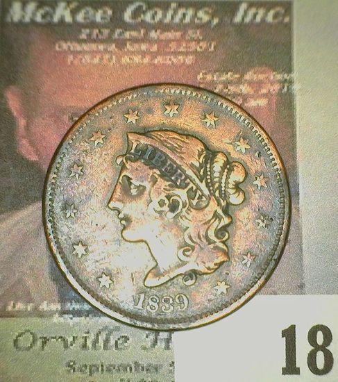 1839 U.S. Large Cent. Fine.