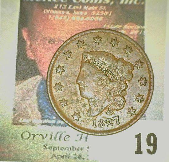 1827 U.S. Large Cent. Fine.