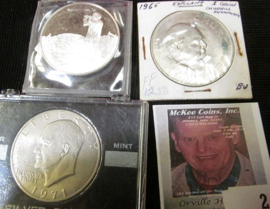1977 Sterling Silver Proof Official Commemorative Issue Honoring the 100th Anniversary of the Birth
