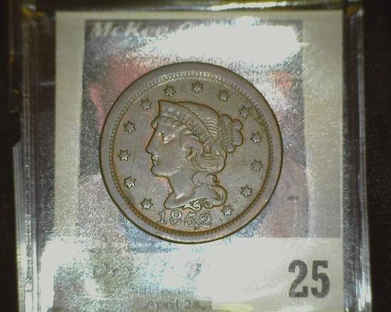 1852 U.S. Large Cent. Very Fine.