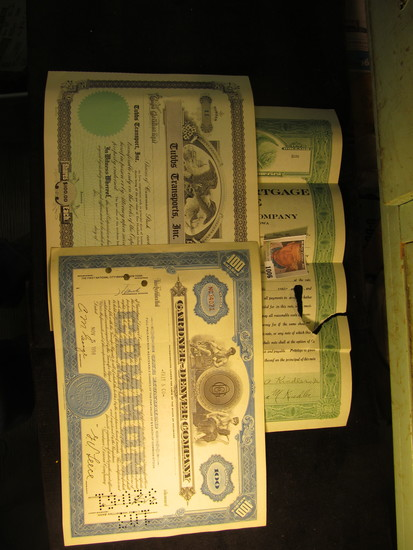 """Stamped 1923 """"United States of America State of Iowa First Mortgage Note Negotiated by The Hedges Co"""