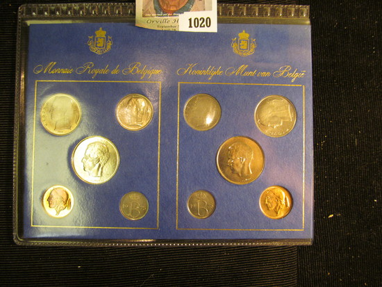 "1975 ""Belgie"" & ""Belgigue"" Coin Sets in a Special holder. Ten pieces. All Gem BU."