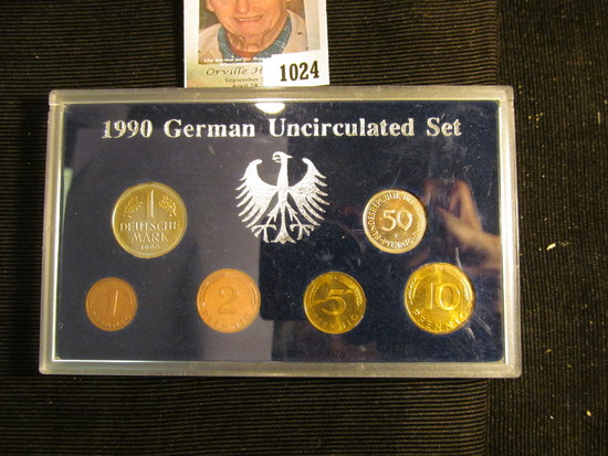 1990 German Uncirculated six-piece Set in a holder.