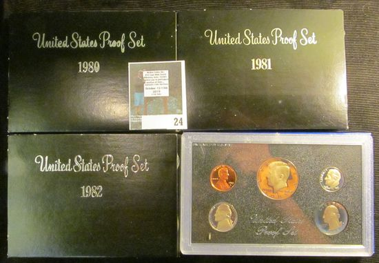 1980 S, 81 S, 82 S, & 83 S U.S. Proof Sets, all original as issued.