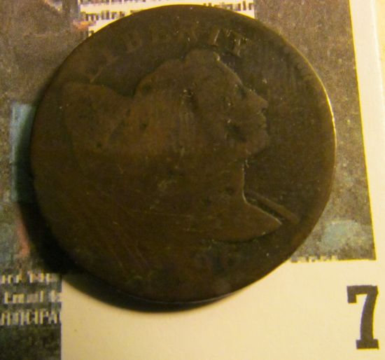 1796 U.S. Large Cent, AG. Sheldon # 88, a very valuable coin now that they are listed on the Sheldon