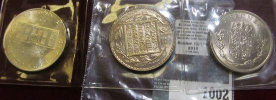 1965 & 1966 Five Kronor & 1964 Ten Kronor Sweden Coins.