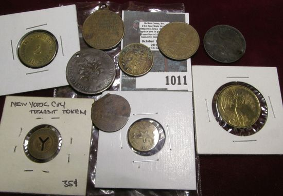 Group of miscellaneous tokens & medals.