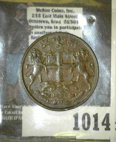 1858 East India Company 1/4 Anna Copper.