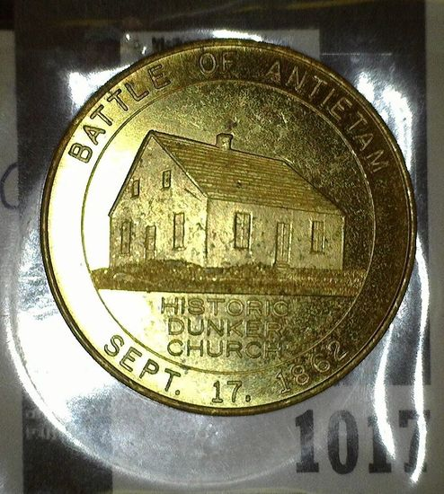 1962 Centennial Medal of the Battle of Antietam Good for 50c.