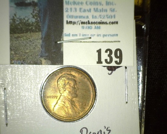 1909 S Lincoln Cent, Rare Date.Mostly Red Uncirculated.