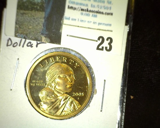 2005 S Proof Sacagawea One Dollar Coin.