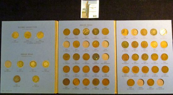 Partial Set of U.S. Flying Eagle and Indian Head Cents in a blue Whitman folder. Includes 1857 & (2)