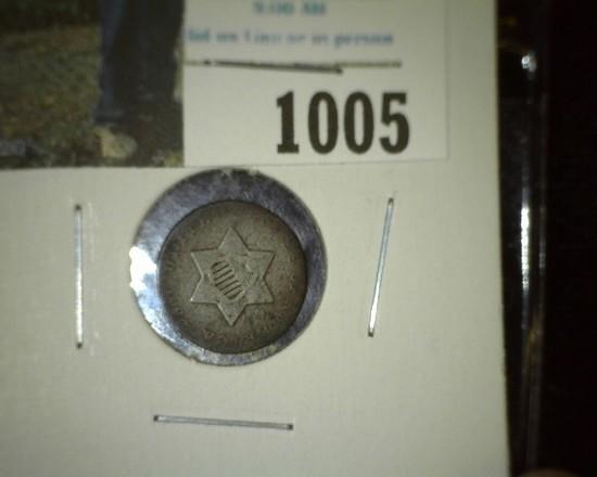 1852 U.S. Three Cent Silver.