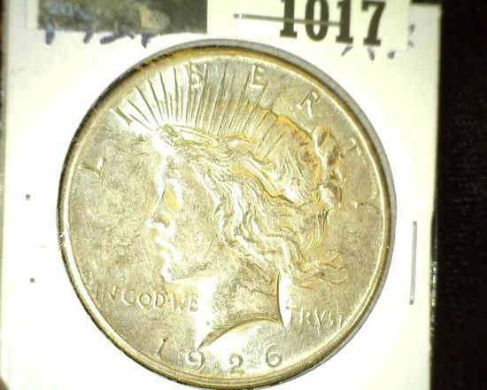 1926 P U.S. Silver Peace Dollar. Super nice.