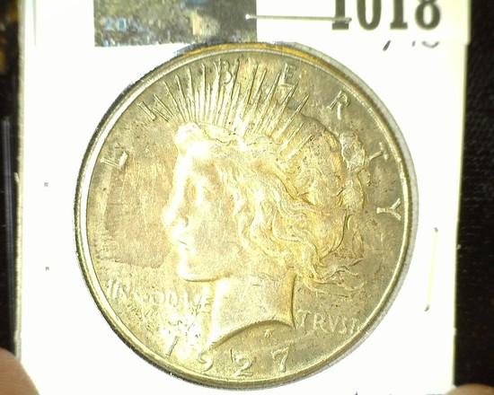 1927 P U.S. Silver Peace Dollar. Super nice.