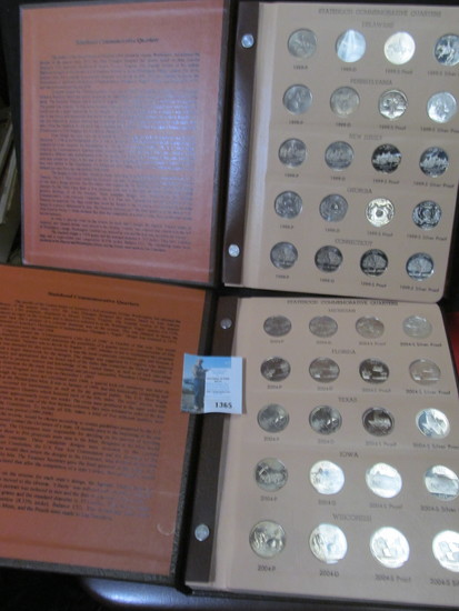 Complete Set of 1999-2008 Washington Quarters Statehood Commemoratives including all Silver issue Pr