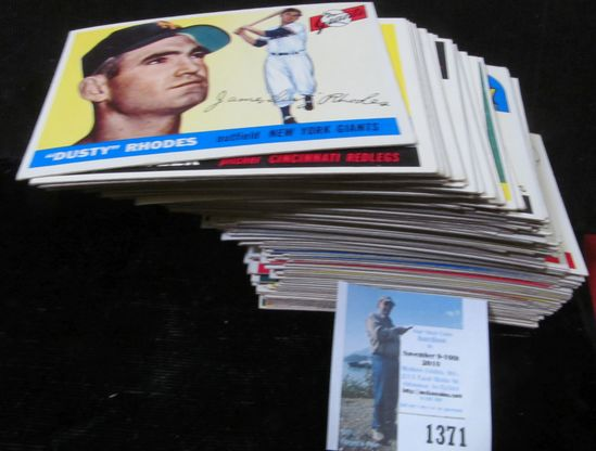 1955 Topps Partial Set of Baseball Cards. Includes # 1, 3, 5, 7-27, 29-33, 35-44, 46, 48-49, 51-56,