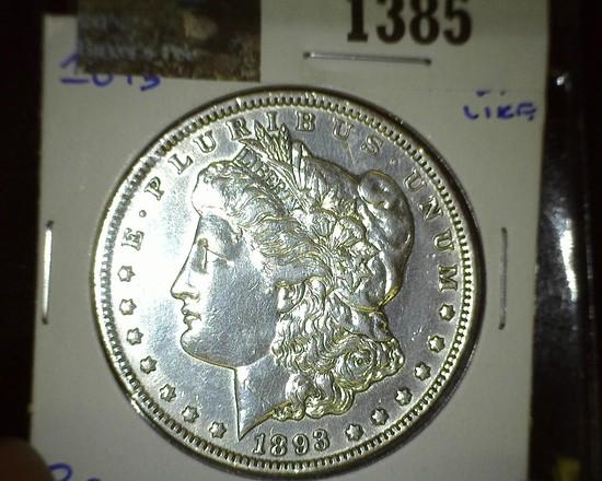 1893 P Morgan Silver Dollar, very scarce.