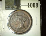 1852 U.S. Large Cent, Fine to VF.