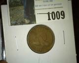 1857 U.S. Flying Eagle Cent, VG-F.