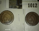 1863 Copper-nickel & 1864 Bronze Indian Head Cents.