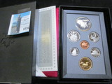 1992 Canada Proof Set in hard case as issued.