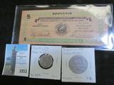Rectangular Souvenir Wooden Nickel from