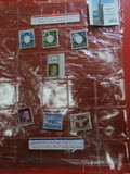 Set of Germany-Poland WW II Stamps, includes facism Eagle. German Feldpost Military Mail Service WW