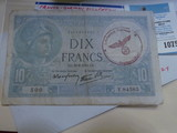 France - German Occupation With Nazi WW II Infantry Regiment Hand Stamp. History only.