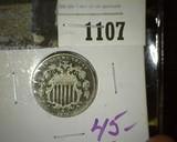 1875 U.S. Shield Nickel.