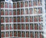 50-Stamp Mint Sheet of Six Cent Christmas Stamps. Van Eyck National Gallery of Art.
