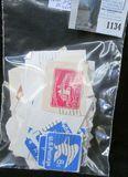 (100) Stamped Partial Envelopes.