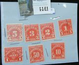 (7) Different U.S. Postage Due Stamps.