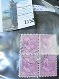 Scott # 83 Block of Four fifty Cent denomination used stamps.