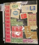 (34) U.S. Stamps, (23) of Which are Mint and includes a Plateblock.