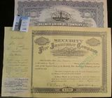 1923 Stock Certificate for 500 Shares