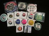 Group of Political Pin-backs dating back to Dewey/Warren.