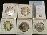 Set of five different 2001 S Proof Statehood Quarters.