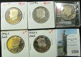 1984 S, 85 S, 89 S, 96 S & 98 S Proof Kennedy Half Dollars.