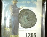 Old Constantine Roman coin nearly 2,000 years old. Could use further identification.