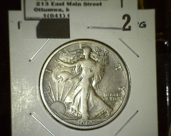 1917 Obverse S Walking Liberty Half Dollar