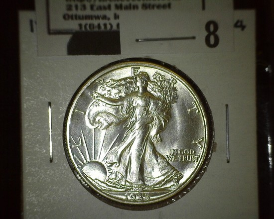 1935 P Walking Liberty Half Dollar, Super Brilliant.